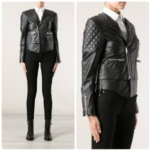 Balenciaga Lace Up leather biker Jacket 36 S